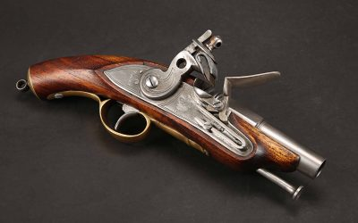"Custom flintlock pistol from ""Pride, Prejudice & Zombies"""